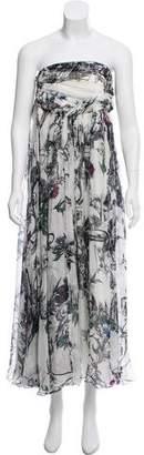 Matthew Williamson Silk Strapless Dress