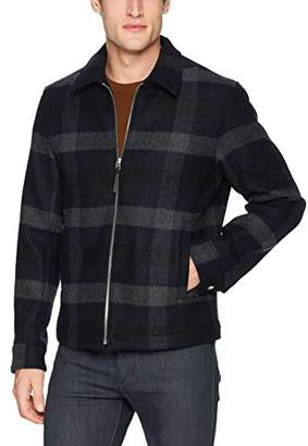 Theory Men's Wyatt Plaid Front Zip Coat
