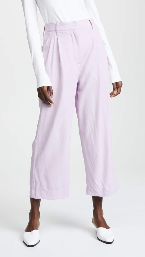Cropped Straight Tailored Pants