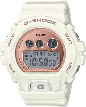 G-Shock Ladies Retro Digital S Series Cream with Rose Gold-Tone Face Watch