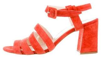 Maryam Nassir Zadeh Suede MultI Strap Sandals