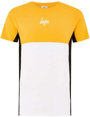 Hype HYPE'S Yellow, White and Black Panel T-Shirt*