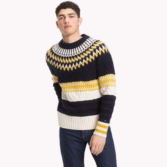 Tommy Hilfiger Wool Fair Isle Pattern Sweater