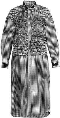 Simone Rocha Ruffled-panel gingham cotton dress