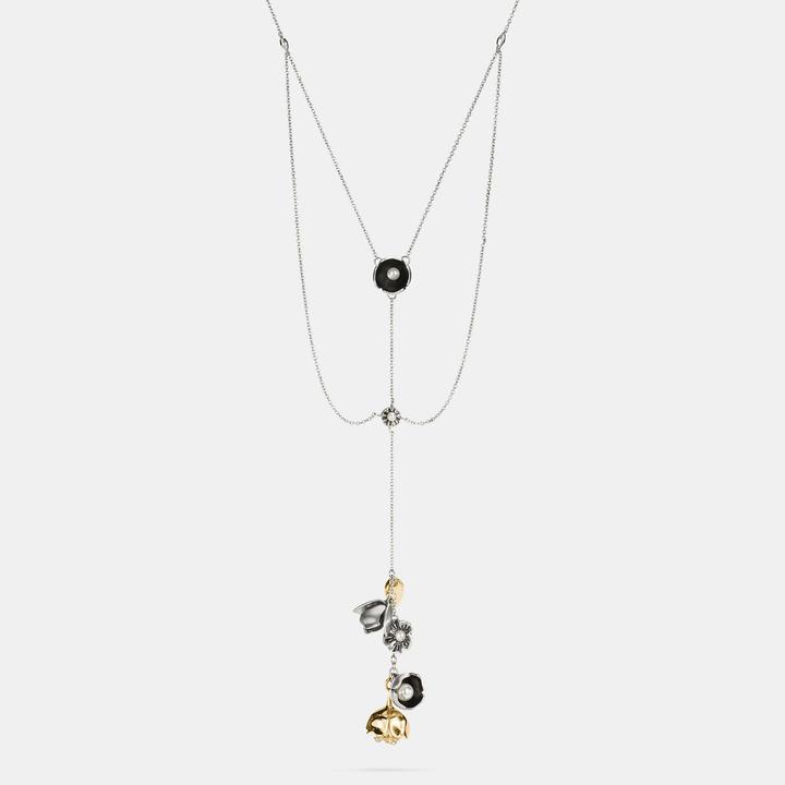 Coach  COACH Coach Tea Rose Multi Layered Necklace