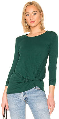 Bobi Marled Knot Long Sleeve Top