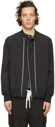 Neil Barrett Black Double Zip Bomber Jacket