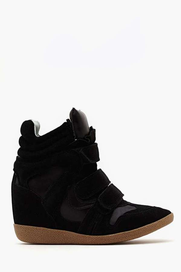Steve Madden Hilight Wedge Sneaker - Black