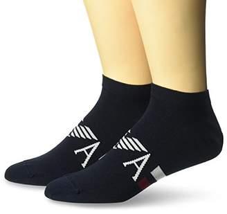 Emporio Armani Men's Plain Stretch Cotton Two Pack in Shoe Socks