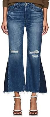 3x1 Women's Higher Ground Gusset Crop Jeans - Blue