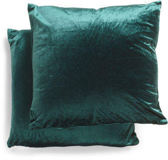 20x20 2pk Velvet Pillows