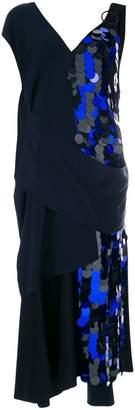 Diane von Furstenberg draped sequin gown