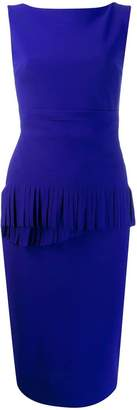 Chiara Boni Le Petite Robe Di fringed detail fitted dress