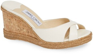 Jimmy Choo Almer Cork Wedge Sandal