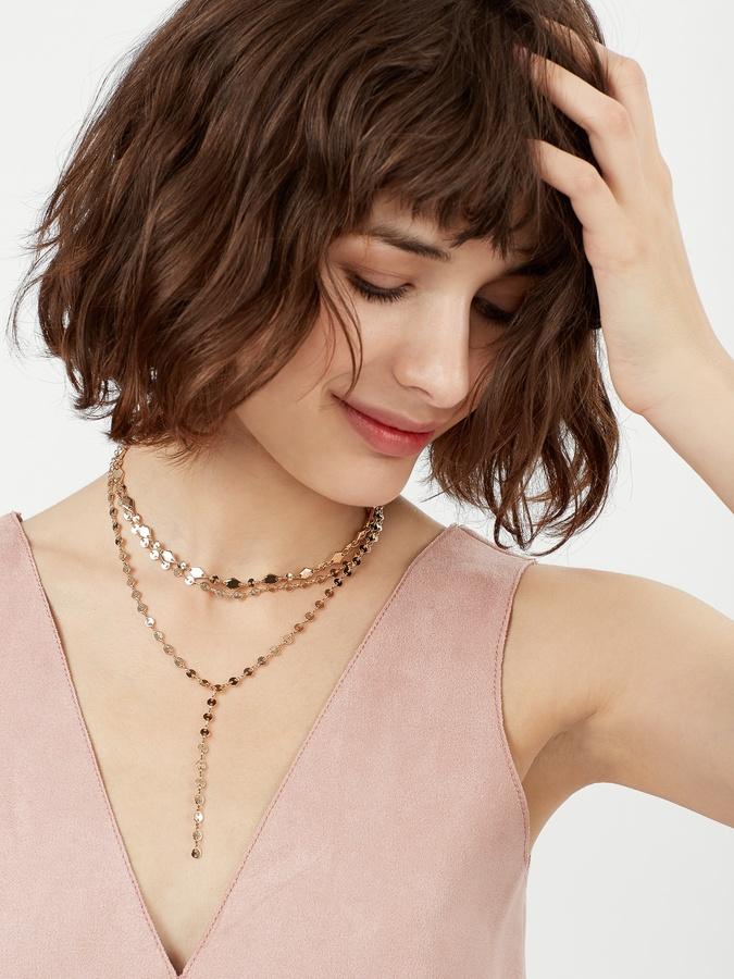 Aimee Layered Y-Chain Necklace 3
