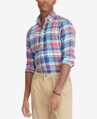 Polo Ralph Lauren Men's Classic Fit Plaid Linen Shirt