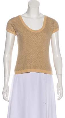 Bergdorf Goodman Cashmere Knit Top Brown Cashmere Knit Top