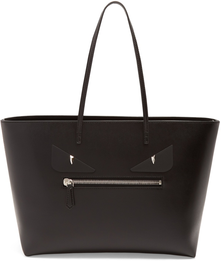 FENDI Roll Bag Bugs leather tote