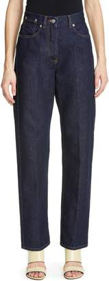 Dries Van Noten Piscos High Waist Straight Leg Jeans