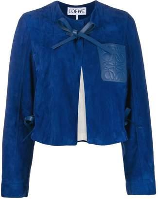 Loewe logo patch crop jacket