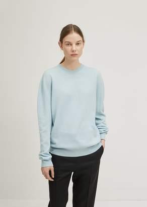 Jil Sander Cashmere Crewneck Sweater Open Blue