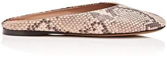 Alumnae Women's Almond-Toe Python Mules