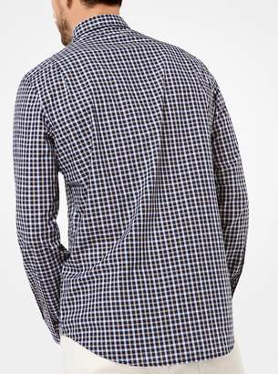 Michael Kors Tailored/Classic-Fit Check Cotton Shirt