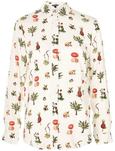 Topshop Topshop Fruit bowl print shirt