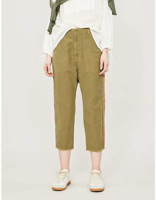 Nili Lotan Luna cotton and linen-blend trousers