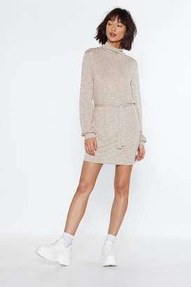 Nasty Gal Sweater Believe It Turtleneck Dress