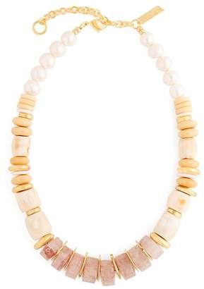 Lizzie Fortunato Pink Sands Beaded Necklace - Womens - Pink