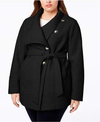 INC International Concepts I.n.c. Plus Size Belted Asymmetrical Coat