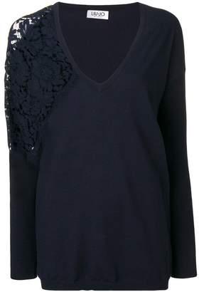 Liu Jo side lace detail jumper