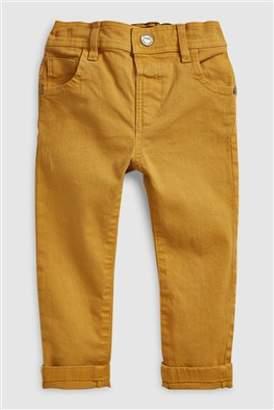Next Boys Ochre Soft Stretch Twill Trousers (3mths-6yrs)