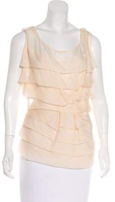 Brian Reyes Ruffled Sleeveless Top