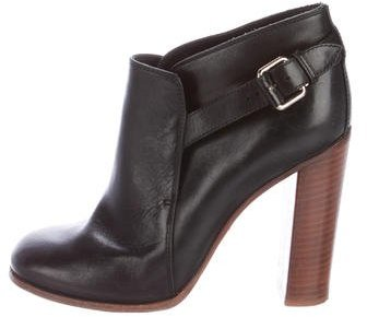 Céline Buckle-Accented Ankle Boots