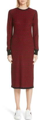 Marc Jacobs Stripe Wool Sweater-Dress
