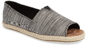Women's Toms Open Toe Espadrille Slip-On $63.95 thestylecure.com