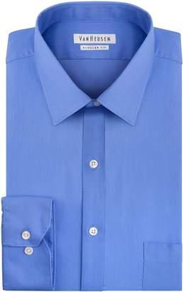 Van Heusen Men's Pincord Regular Fit Solid Spread Collar Dress Shirt