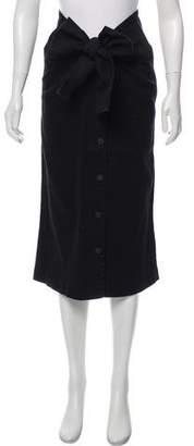 OAK Denim Midi Skirt