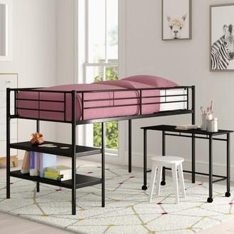 LOFT Mack & Milo Aglandjia Twin Low Bed with Bookcase Mack & Milo
