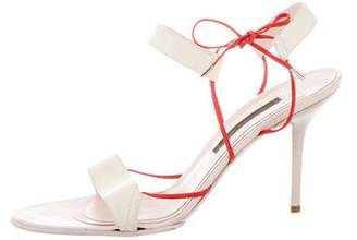Narciso Rodriguez Multistrap Leather Sandals