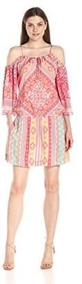 Hale Bob Women's Hide and Go Chic Cold Shoulder Drop Waist Dress