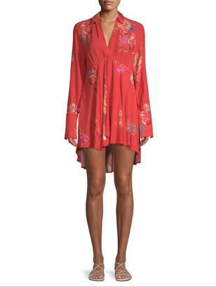Free People Women's Field Of Butterflies Tunic