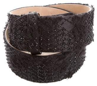 Jason Wu Bead-Embellished Waist Belt w/ Tags