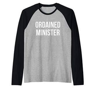 Ordained Minister Wedding Priest Marriage Raglan Baseball Tee