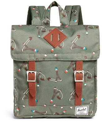 Herschel Kids 'Survey' sticks and stones print canvas 5.5L kids backpack