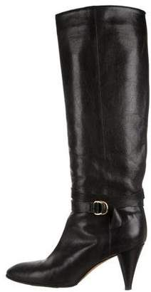 Loeffler Randall Leather Pointed-Toe Boots