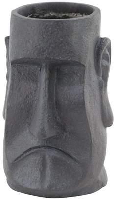 Brimfield & May Craftsman Stone Face Fiber Clay Planter