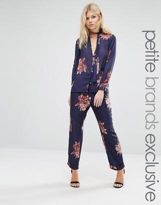Alter Petite Floral Print Pyjama Pant Co-Ord